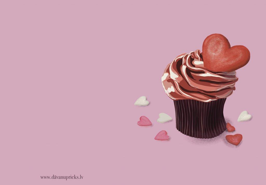Valentīndienas apsveikuma kartiņa